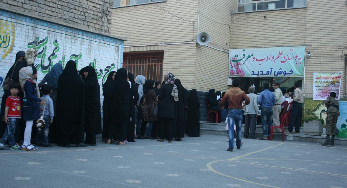 گزارش تصویری از آخرین ساعات رای گیری در نجف آباد