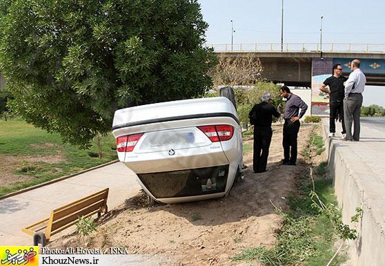 یک کشته در حادثه واژگونی خودرو در محور اصفهان به نجف آباد