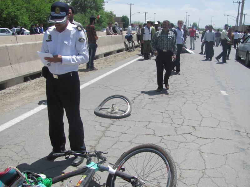 مرگ راکب دوچرخه بر اثر بی احتیاطی راننده سمند