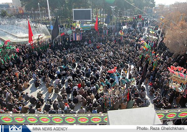 گزارش تصویری از عزاداری اربعین نجف آباد
