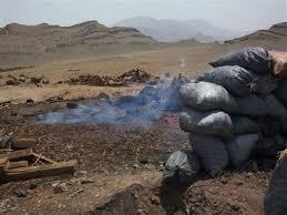 تخریب ۷۵حلقه چاه زغال غیرمجاز در نجف آباد