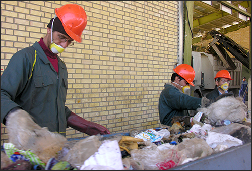مخلوط شدن ۲۳ درصد مواد بازیافتی نجف آباد با پسماند های خانگی