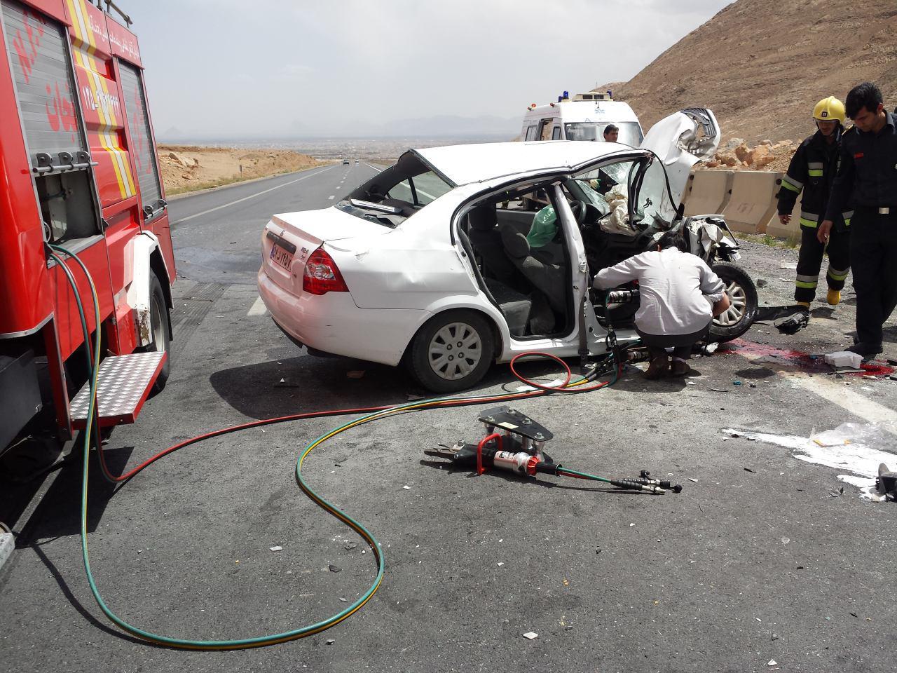 تصادف مرگبار در محور فیلور نجف آباد
