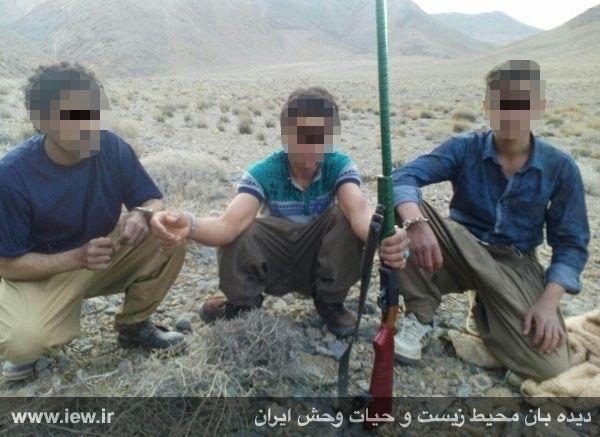 شکارچی متخلف در نجف آباد دستگیر شد