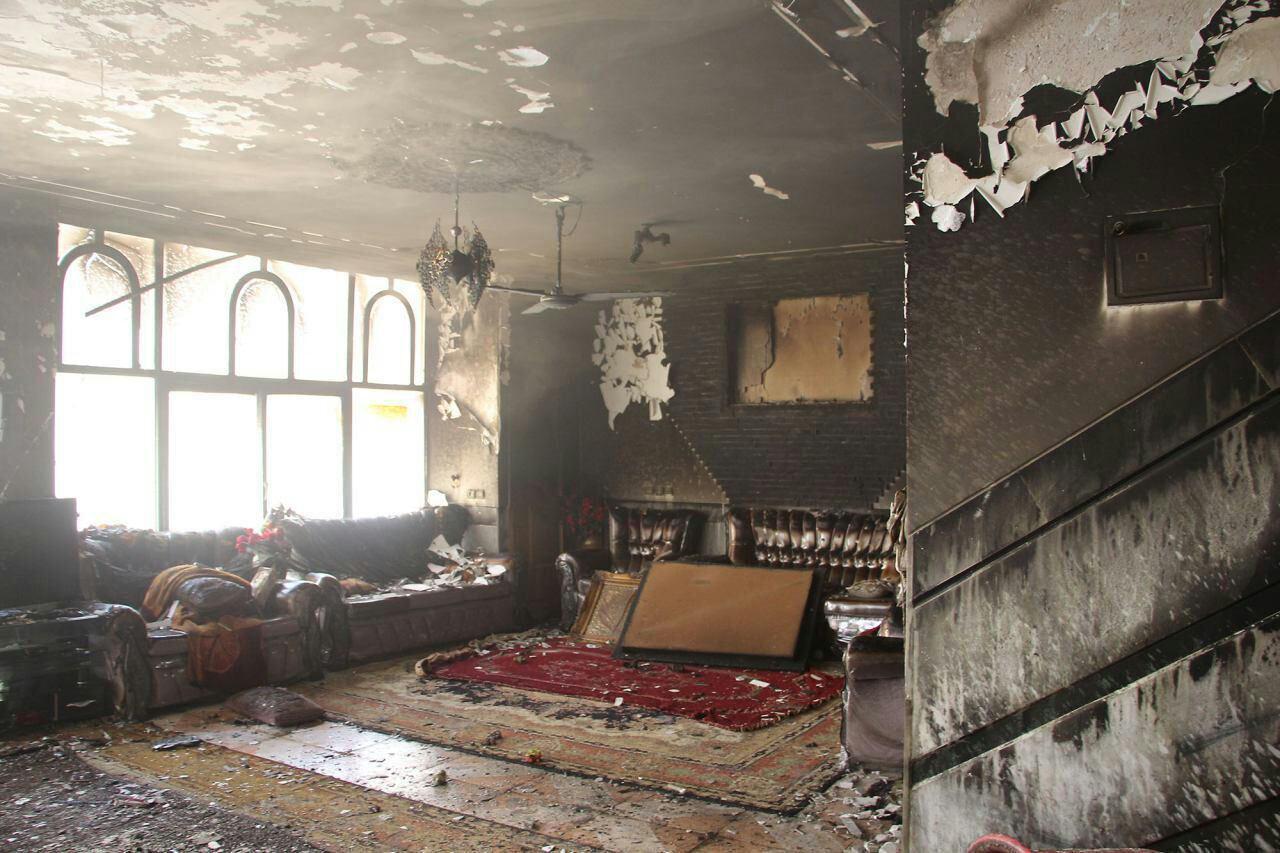 اتوی روشن خانه ای را به آتش کشید
