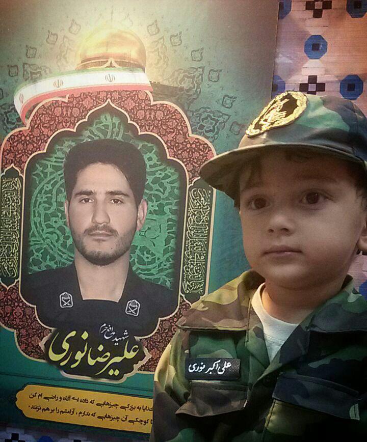 دلتنگی های فرزند شهید مدافع حرم + تصاویر