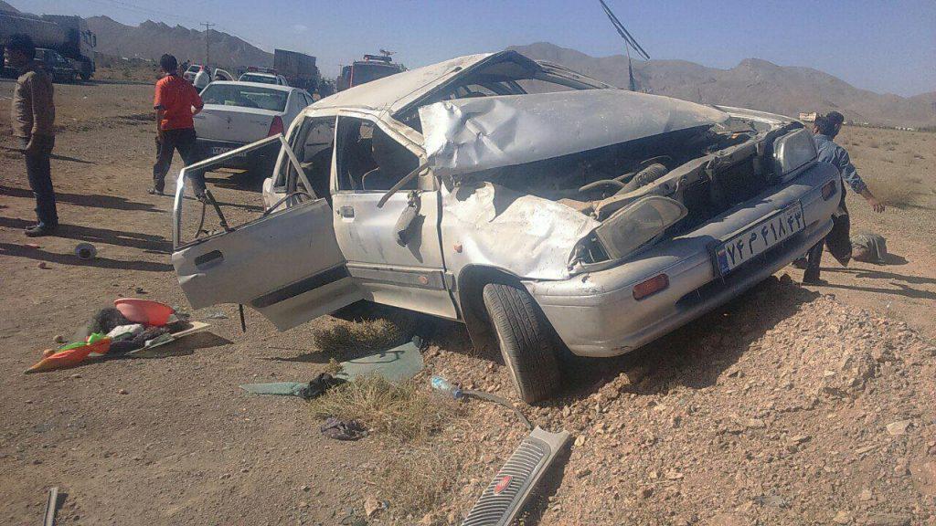 تصادف واژگونی واژگونی پراید در نجف آباد با پنج کشته و زخمی            1024x576