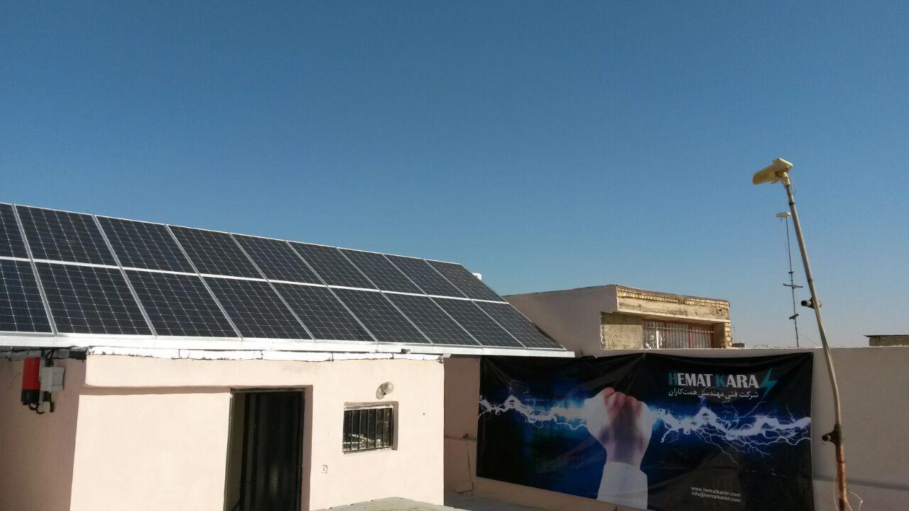 افتتاح اولین نیروگاه خورشیدی در نجف آباد