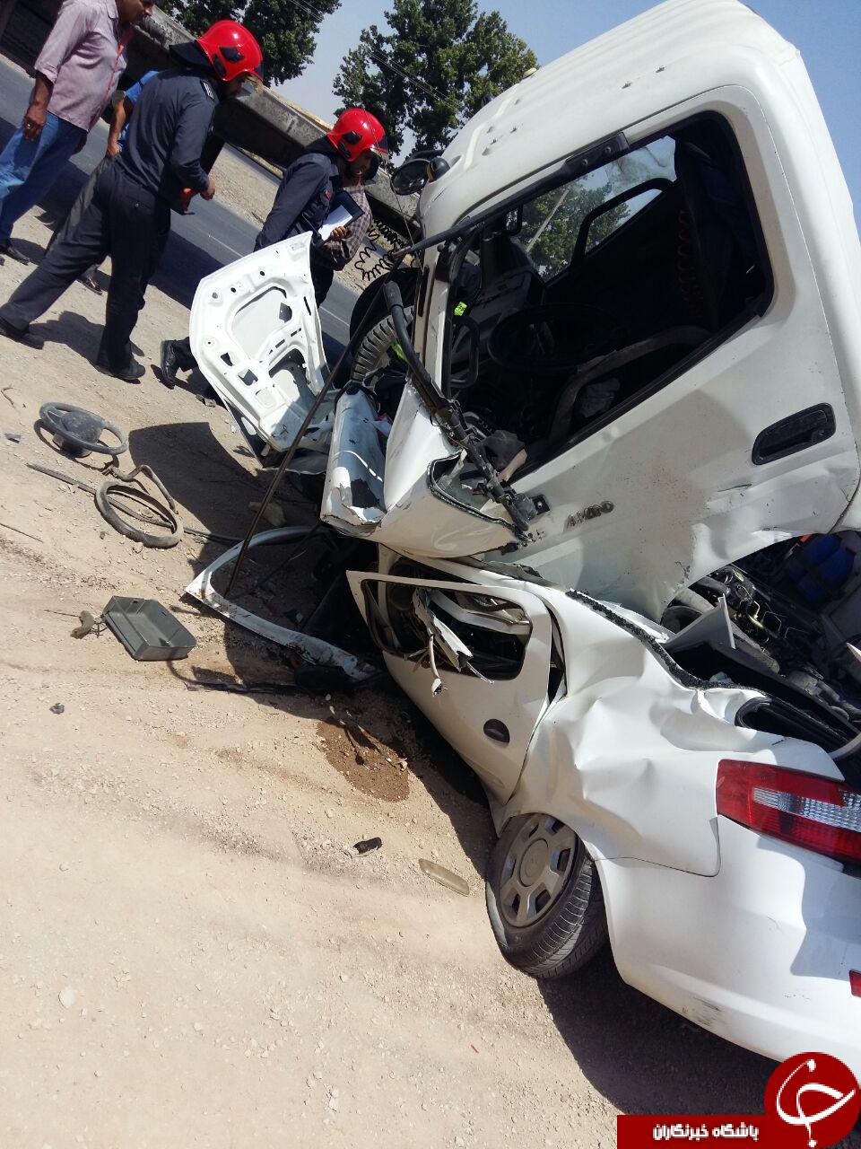 کشته و زخمی شدن دو راننده در اتوبان نجف آباد