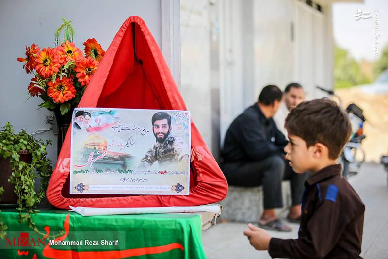 لحظه وداع محسن حججی با خانواده+فیلم