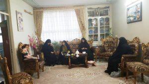 همسر شهید حججی در منزل شهید دایی تقی (2)                                                                   2 300x169