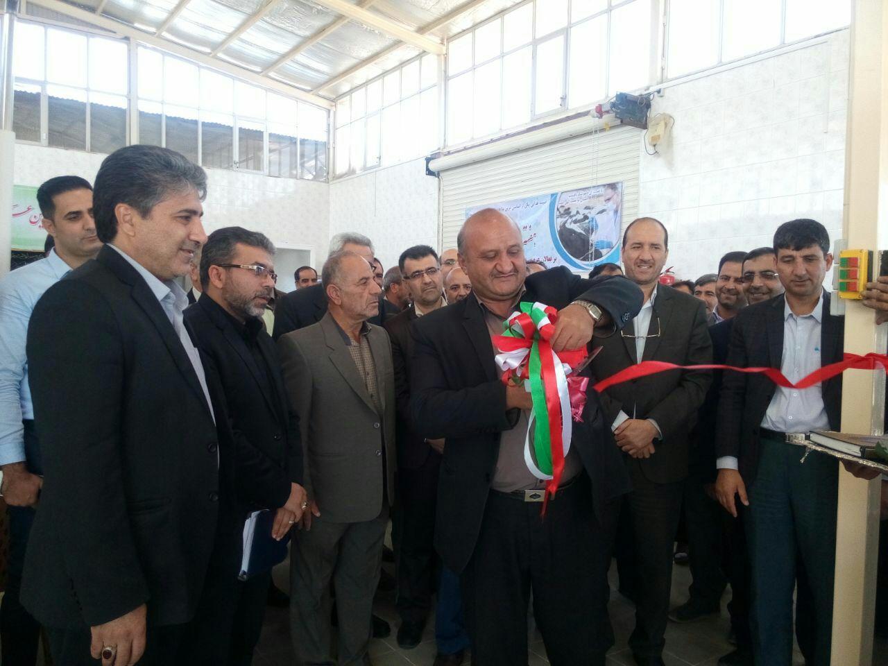 افتتاح ایستگاه جمع آوری شیر نجف آباد