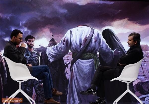 گفت و گو با خالق تابلوی شهید حججی+تصاویر