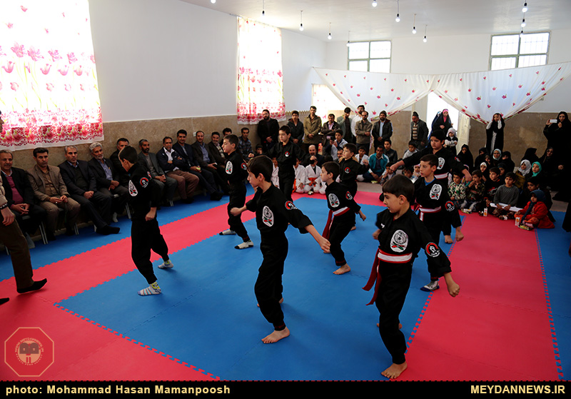 افتتاح خانه ورزشی روستایی همت آباد+تصاویر