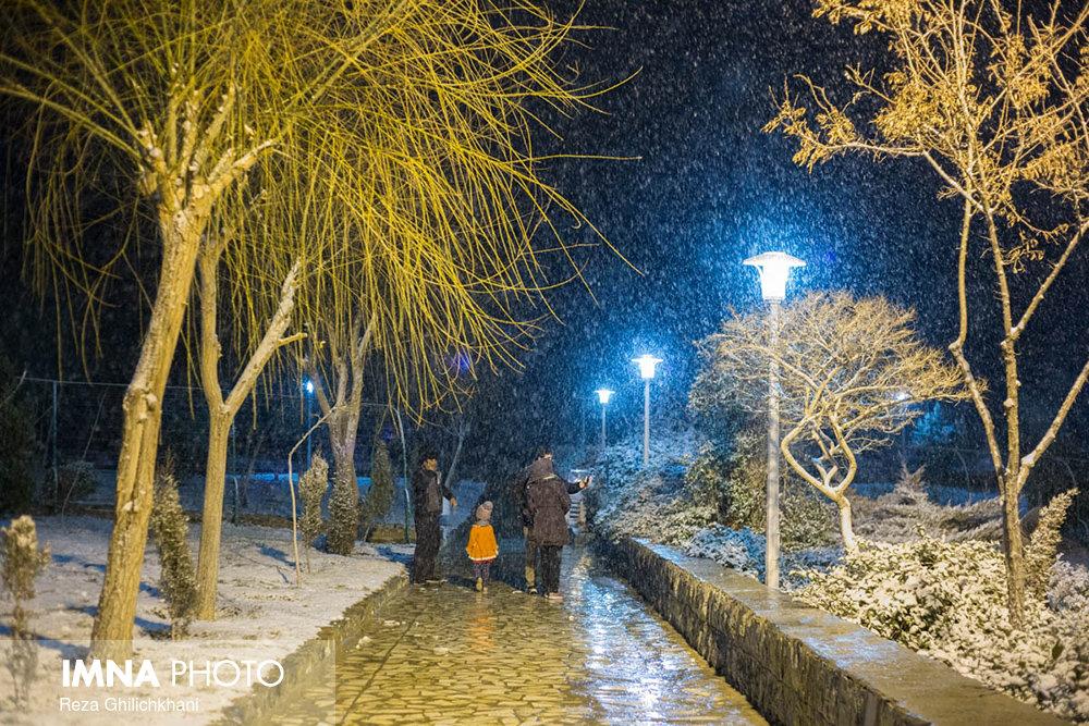 بارش برف در نجف آباد برف نوبرانه در نجف آباد+تصاویر برف نوبرانه در نجف آباد+تصاویر                                      9