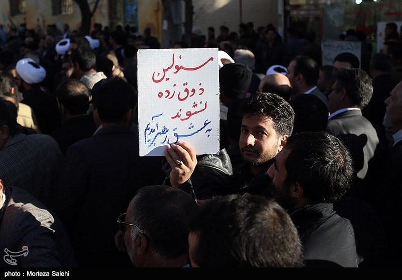 راهپیمایی ۱۳دی و تشییع شهید امنیت در نجف آباد+تصاویر