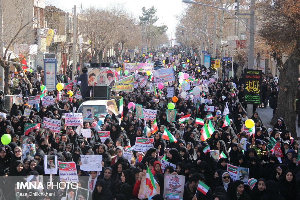 راهپیمایی ۲۲بهمن نجف آباد+ تصاویر