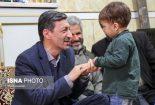 پرویز فتاح در منزل شهید حججی+فیلم و تصاویر