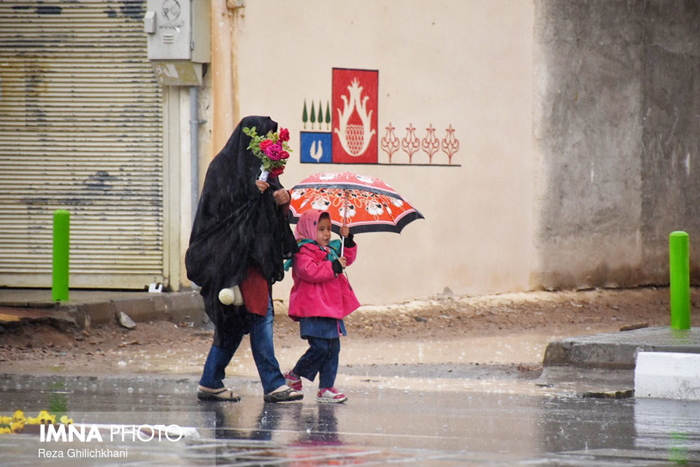 بارش بیشترین باران در نجف آباد