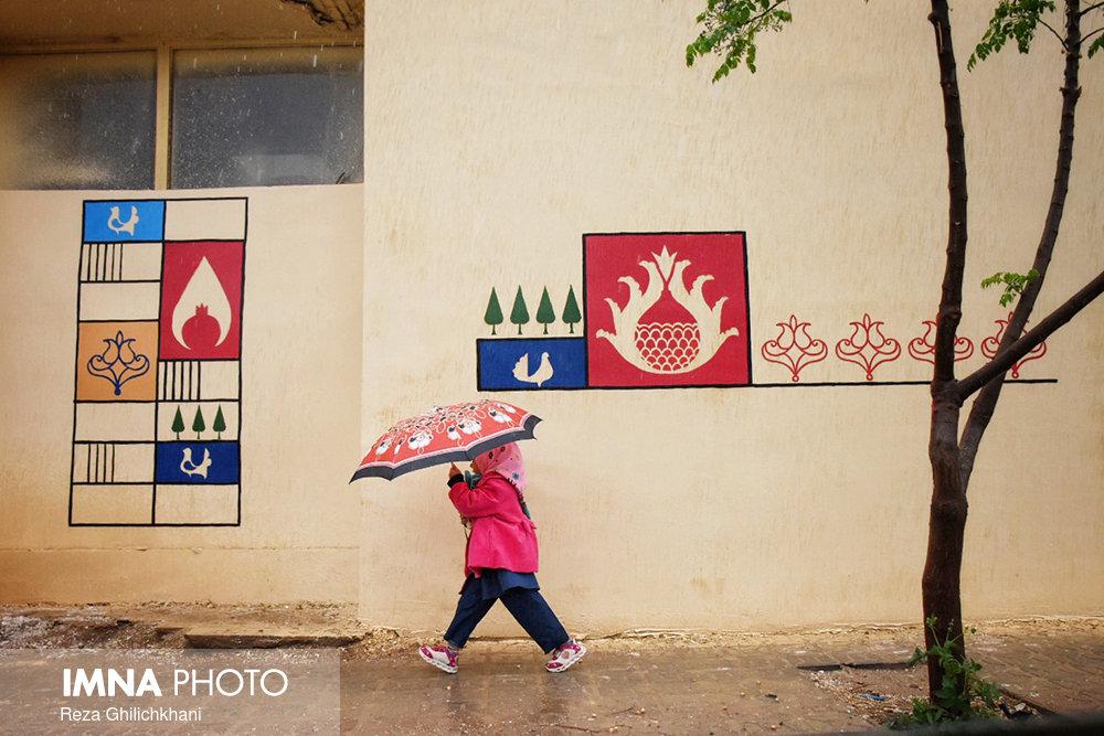 بارش باران در نجف آباد روز بارانی نجف آباد+تصاویر روز بارانی نجف آباد+تصاویر                                          18