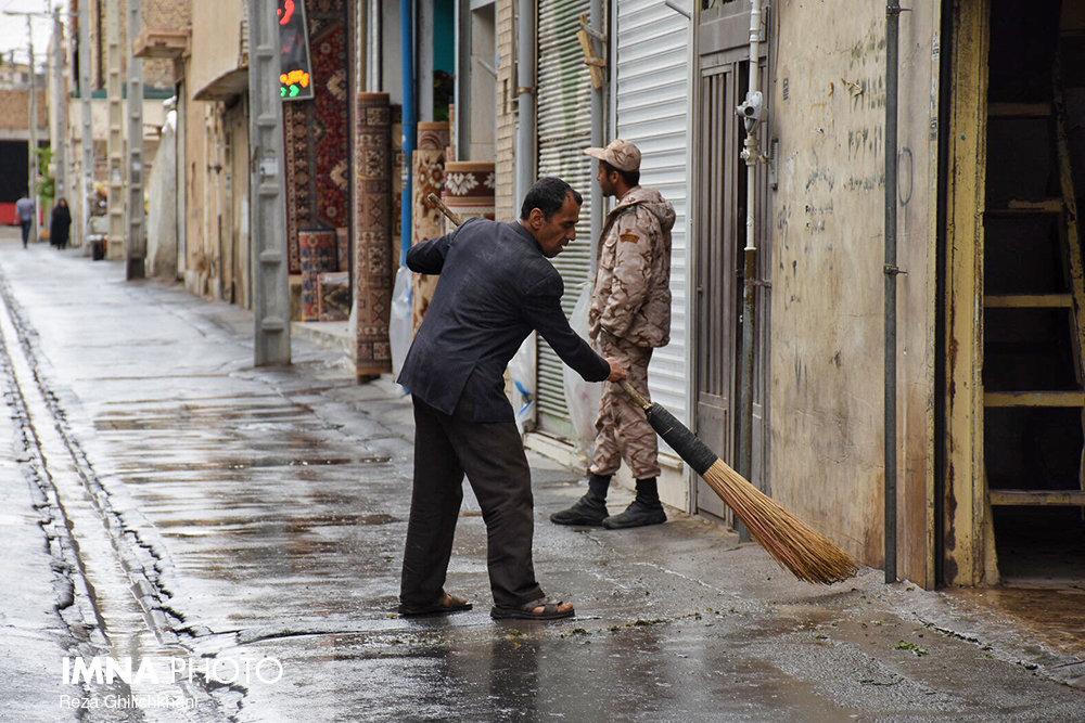 بارش باران در نجف آباد روز بارانی نجف آباد+تصاویر روز بارانی نجف آباد+تصاویر                                          19