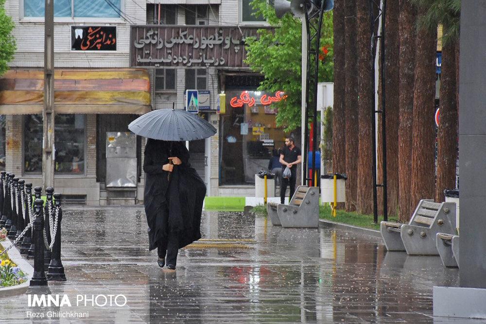 نجف آباد پر بارش ترین نقطه استان