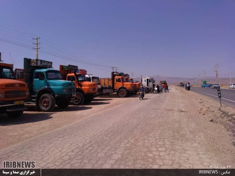 اعتصاب کامیون داران نجف آباد