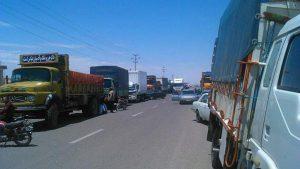 اعتصاب کامیون داران ادامه اعتصاب کامیون داران نجف آباد ادامه اعتصاب کامیون داران نجف آباد                                      300x169