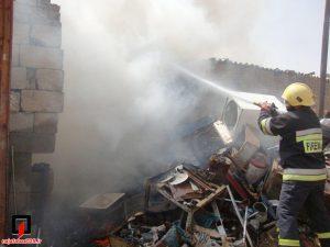 آتش سوزی انبار ضایعات+ تصاویر آتش سوزی انبار ضایعات+ تصاویر                                              1 300x225