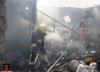 آتش سوزی انبار ضایعات+ تصاویر