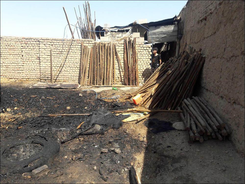 آتش سوزی در چوب بری در نجف آباد+تصاویر