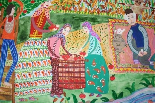 نقاشی فاطمه جوانمردی درخشش جهانی نقاشی دانش آموز سما نجف آباد درخشش جهانی نقاشی دانش آموز سما نجف آباد