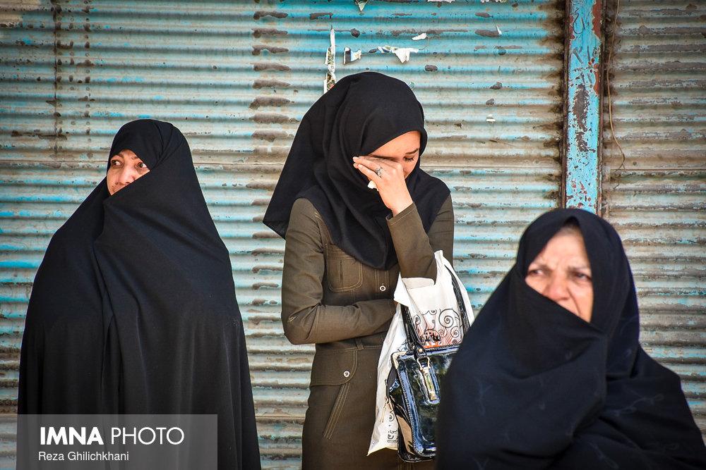 تشییع یک جانباز در نجف آباد+تصاویر