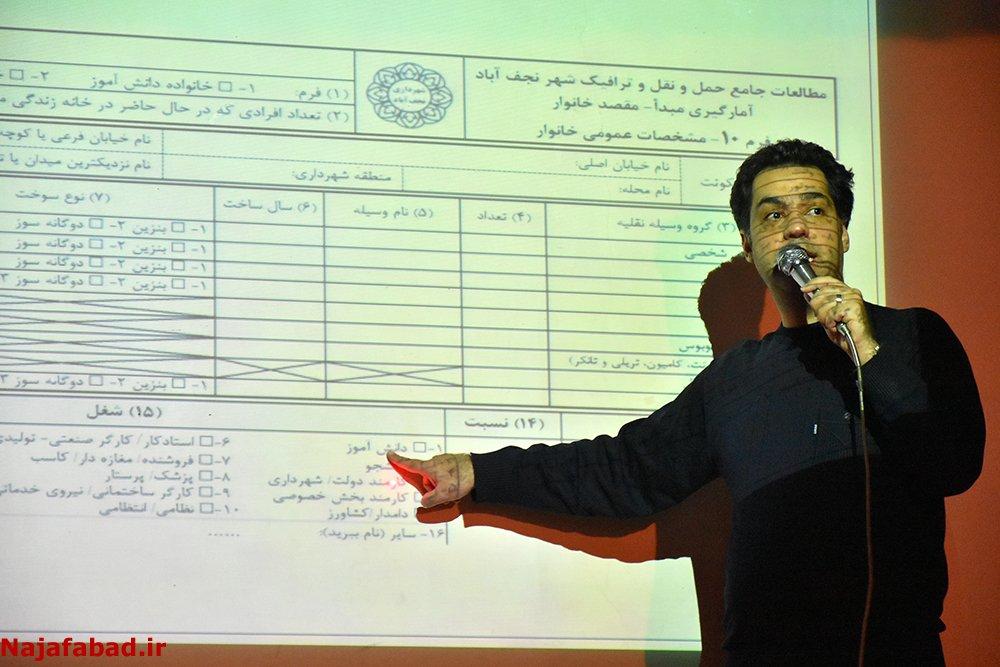 گرفتن آمار ترافیک شهر نجف آباد