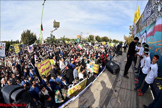 راهپیمایی ۱۳آبان در نجف آباد+تصاویر