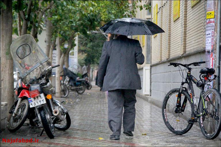 بارش باران در نجف آباد روز بارانی نجف آباد+تصاویر روز بارانی نجف آباد+تصاویر                                          2