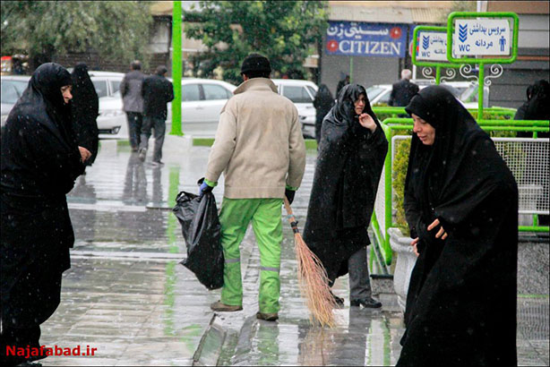 بارش باران در نجف آباد چهار برابر شد