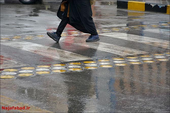 بارش باران در نجف آباد روز بارانی نجف آباد+تصاویر روز بارانی نجف آباد+تصاویر                                          7