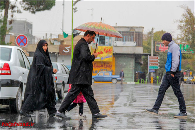 باران در نجف آباد روز بارانی نجف آباد+تصاویر روز بارانی نجف آباد+تصاویر                                          9