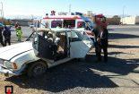 زخمی شدن چهار سرنشین پیکان+ تصاویر