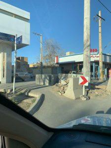 تیر چراغ برق تیر برق تیر برق، وسط خیابان کاشته شد+ تصاویر                                                 2 225x300