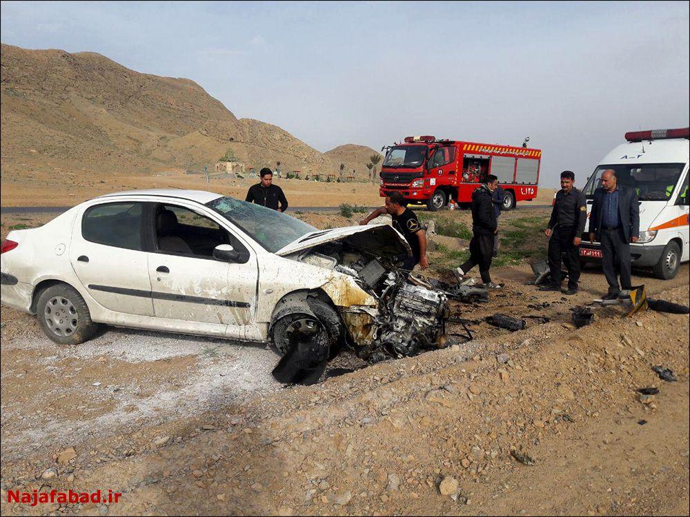 یک کشته در تصادف جاده نجف آباد به زازران