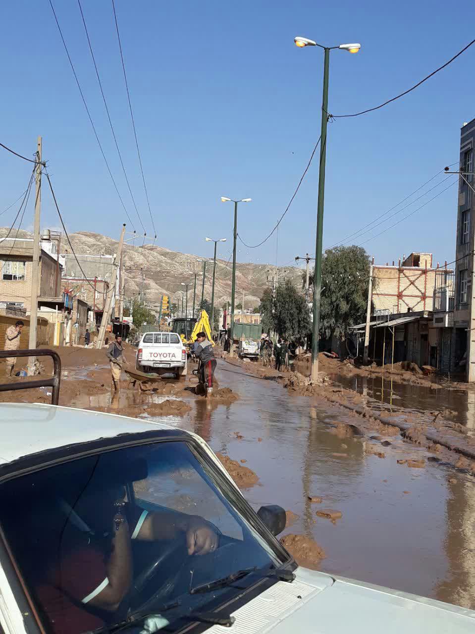 بازگشایی جاده معمولان به خرم آباد توسط سپاه + فیلم