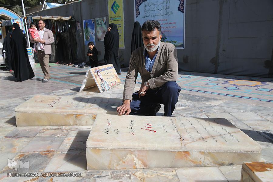 مزار شهید مزار شهید محسن حججی در نوروز98 + تصویر                                     12