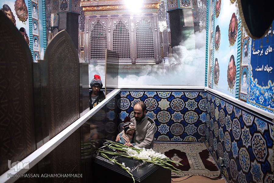 مزار شهید مزار شهید محسن حججی در نوروز98 + تصویر                                     2