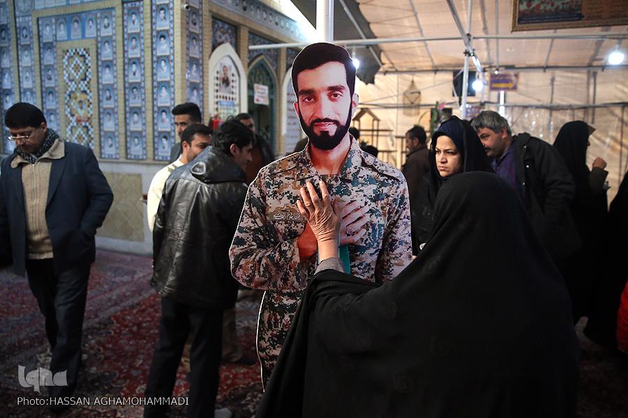 مزار شهید محسن حججی در نوروز۹۸ + تصویر
