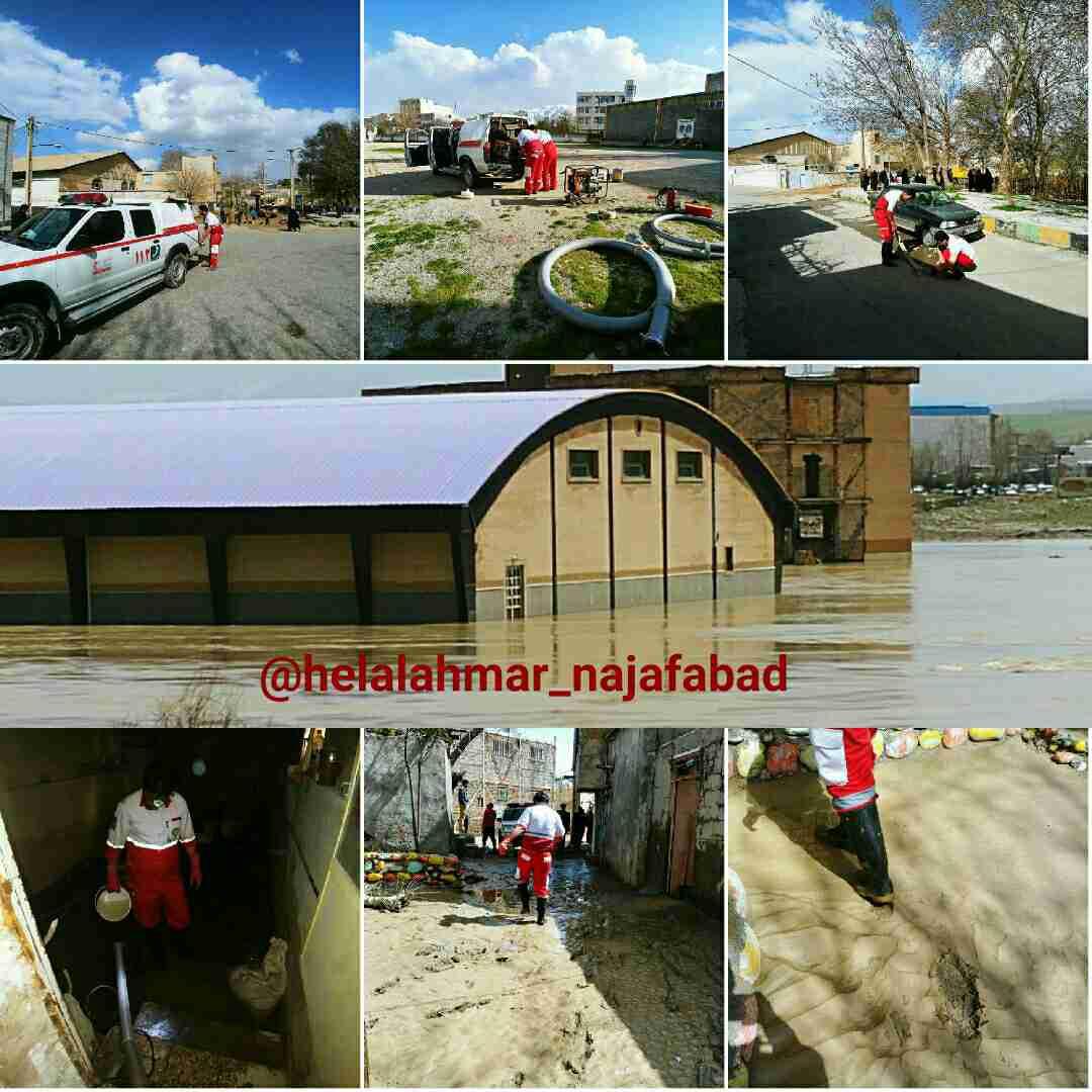 گزارش هلال احمر از پلدختر در پنجمین روز سیلاب + فیلم