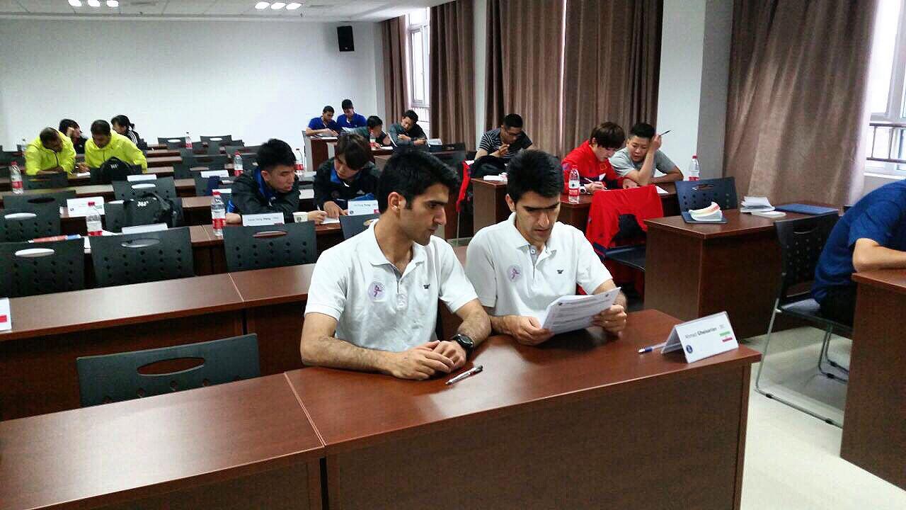 قضاوت داوران هندبال نجف آباد در مسابقات آسیای میانه