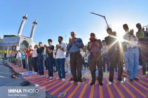 نماز عید فطر تصاویر تصاویر برگزاری نماز عید فطر در نجف آباد                       98                      7 300x200