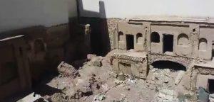 کاروانسرای حاج حیدر سایه سایه تخریب روی سر تنها کاروانسرای شهری نجف آباد                    300x144